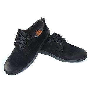 Черные туфли Detta на шнурках