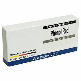 Таблетки для фотометра Phenol Red на определение pH (пачка 50 таблеток)