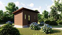 Садовый каркасно-щитовой дом 6х2,4 м без веранды в скандинавском стиле
