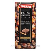 Шоколад черный Torras Puro Fondant с цельными лесными орехами 200 г