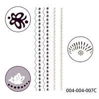 3D наклейки для дизайна ногтей на липкой основе. Полосочки.Stick-SA-3D 004_004_007C