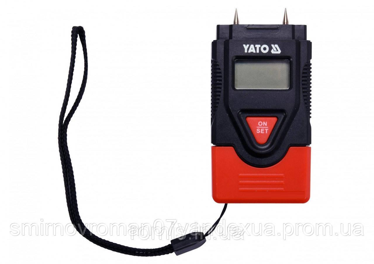 Влагомер для древесины и стройматериалов YATO