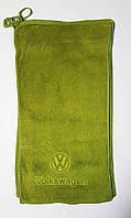 """Полотенце """"АВТО Volkswagen"""" микрофибра 24*48, цвет: оливковый"""
