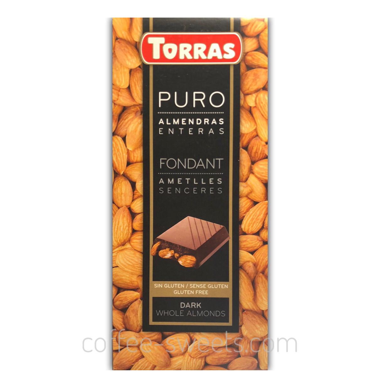 Шоколад черный Torras Puro Fondant с миндалем 200г
