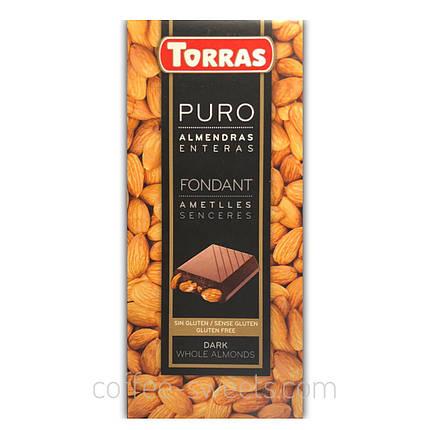Шоколад черный Torras Puro Fondant с миндалем 200г, фото 2