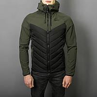 Мужская комбинированная куртка весна-осень. Топ качество.