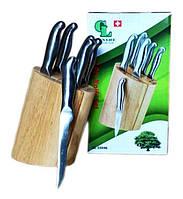 Набор кухонных ножей на деревянной подставке 7 шт