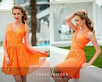Сарафан мини в оранжевой  расцветке 160
