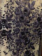 Сетка с красивым принтом выпуклые розы 5 цветов, фото 1