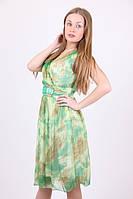 Стильное женское шифоновое платье с камнями
