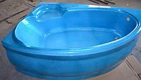 Ванна акрилова КМТ Аделаїда 170 X 110 4мм ліва з ніжками та панелькою Голуба з перламутровим ефектом
