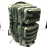 Тактический туристический супер-крепкий рюкзак 40-70 литров (черный)32*50см, фото 3