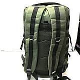 Тактический туристический супер-крепкий рюкзак 40-70 литров (черный)32*50см, фото 4