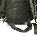 Тактический туристический супер-крепкий рюкзак 40-70 литров (черный)32*50см, фото 5