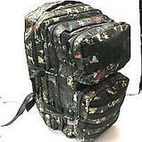Тактический туристический супер-крепкий рюкзак 40-70 литров (черный)32*50см, фото 2