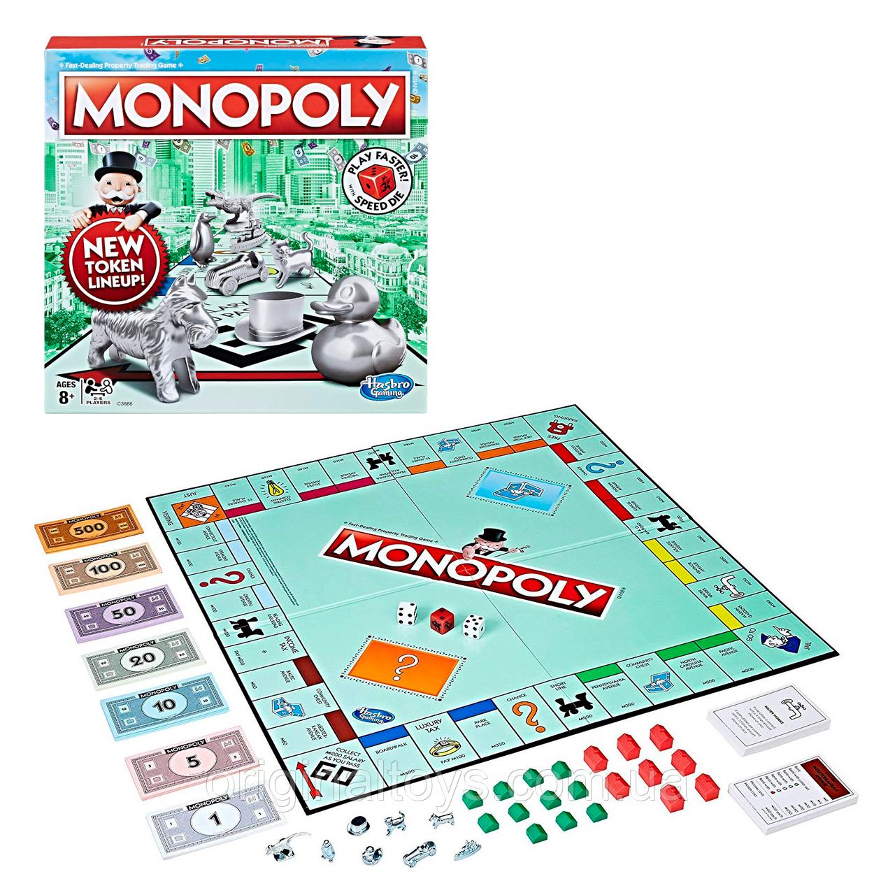 Настільна гра Монополія зі швидкісним кубиком Monopoly Speed Die Edition Hasbro C3888