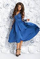 Красивое вечернее платье миди 42, 44, 46 размер