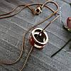 Женский кулон подвеска Hermes (реплика) на цепочке 48 см розовое золото, красная ювелирная эмаль, фото 4