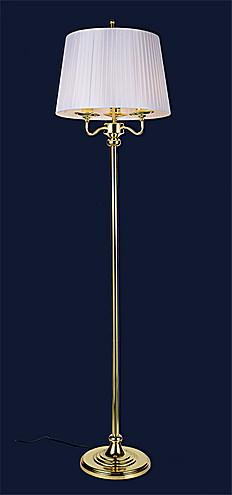 Классический золотой торшер с абажуром 756PR5526-3 GD