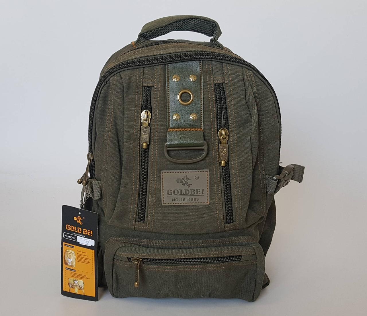 Брезентовый рюкзак средних размеров в расцветках