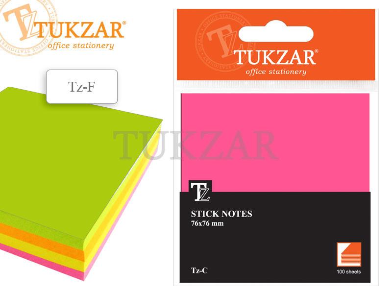 Бумага для заметок  с липким слоем 4 цвета 100 листов