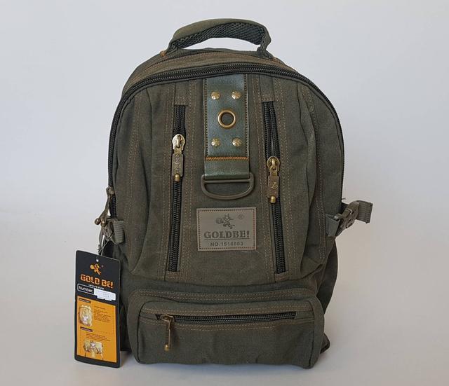 картинка крепкий брезентовый рюкзак цвет хаки