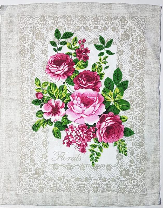 """Вафельное полотенце """"Цветы"""" 46*60"""