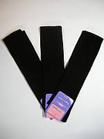 Классические черные женские гольфы из хлопка черного цвета