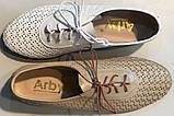 Туфли женские на плоской подошве из натуральной кожи от производителя модель АР490-1, фото 6