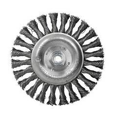 Щетка дисковая S&R, стальная плетенная проволока 150, ворс 0,5 мм