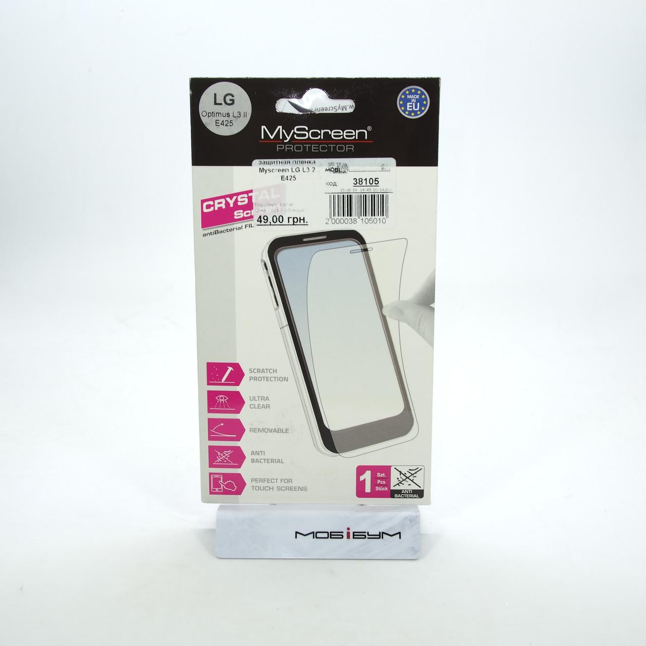 Защитная пленка MyScreen LG L3 2 E425