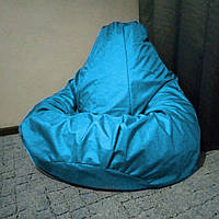 Кресло мешок Груша голубой