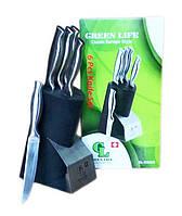 Набор кухонных ножей на подставке