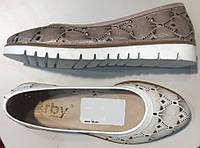 Туфли женские на плоской подошве из натуральной кожи от производителя модель  АР1002 77426e06ff6d7