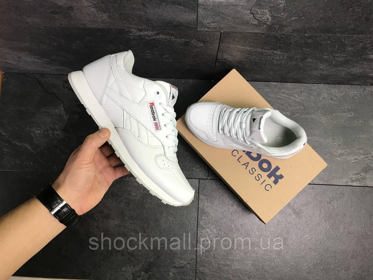... Белые кроссовки Reebok Classic мужские кожаные Вьетнам реплика af78ab494292f