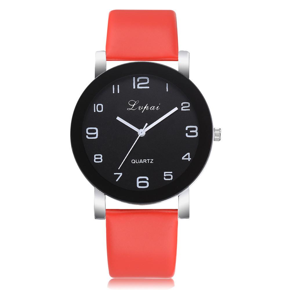 Яркие женские наручные часы Lvpai с красным ремешком   80613-2