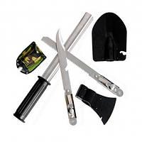 Набор походный 5 в 1. Лопата, открывашка,пила, топор, нож, фото 1