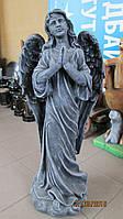 Скульптура ангела на кладбище. Ритуальная скульптура Ангел из бетона 82 см