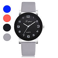 Модные женские наручные часы с большим циферблатом и серым ремешком | 80613-2, фото 1