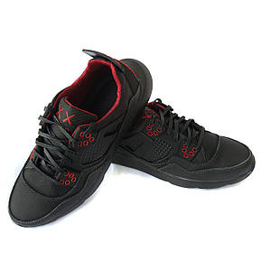 Кожаные кроссовки мужские ортопедические: черного цвета на облегченной подошве, от харьковского производителя