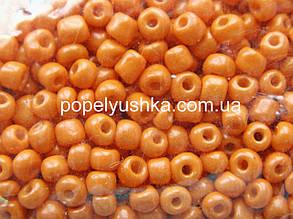 Бісер китайський крупний 3.6 мм блискучий світло-Оранжевий (10 г)