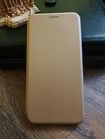 Чехол книжка для Xiaomi Redmi 6a цвет Золотой