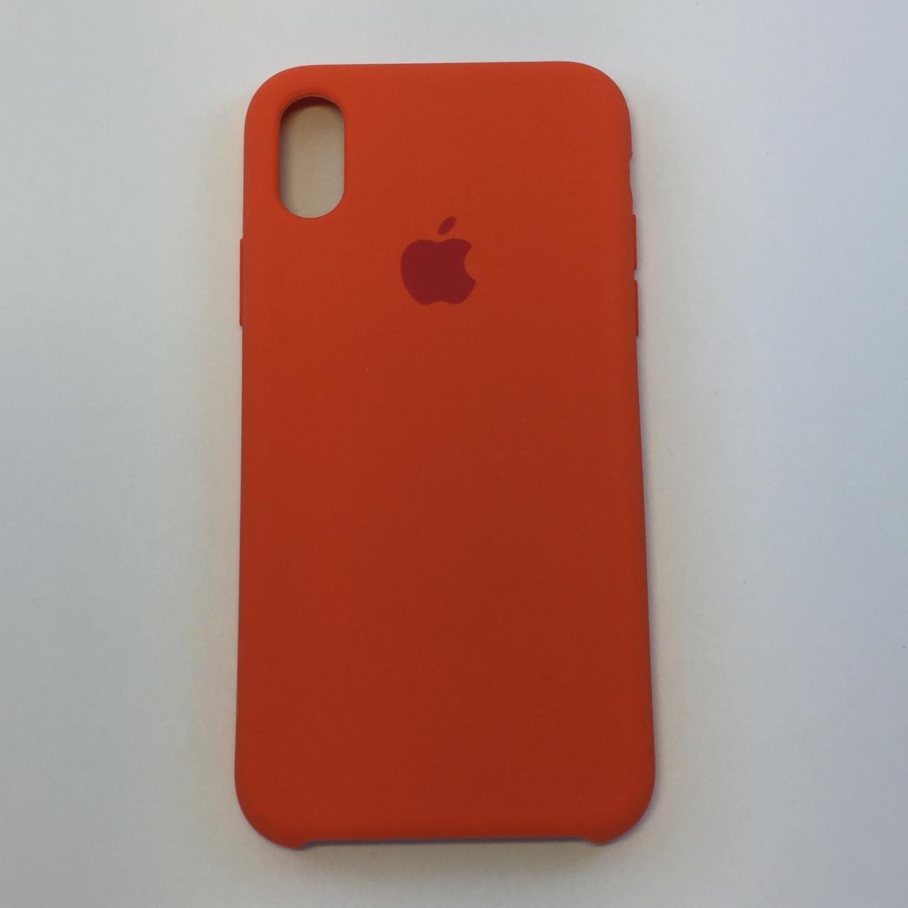 Силиконовый чехол для iPhone X, - «оранжевое настроение» - copy original
