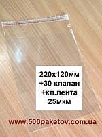 Пакет к/л 22х12см (с клапаном и кл.л.)