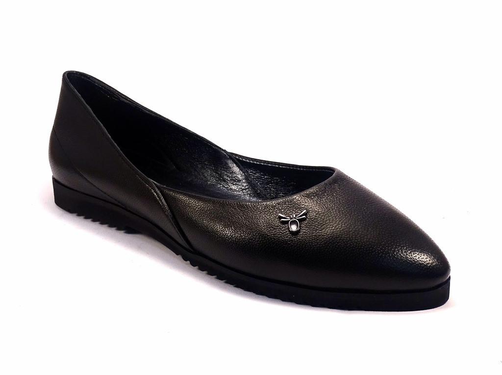 e1a7450f90d3 Балетки кожаные черные женская обувь Scara U Black Leather by Rosso Avangard