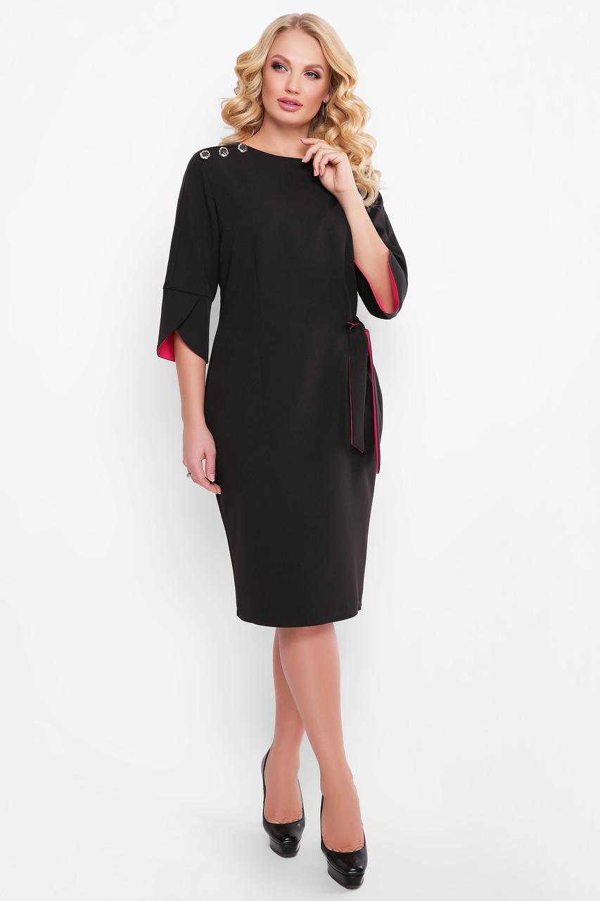 Черное офисное платье для полных Джулия