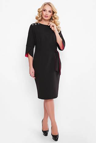 Черное офисное платье для полных Джулия, фото 2