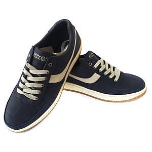 Синие кроссовки Konors на шнурках