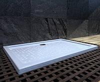 Душевой поддон из камня прямоугольный 120х80 Snail Титан