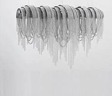 Светодиодная люстра из серебряных цепочек (50W), фото 3